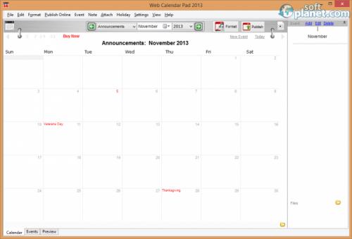 Web Calendar Pad 2013.6.4