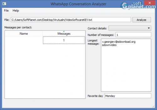 WhatsApp Conversation Analyzer 1.0-a2