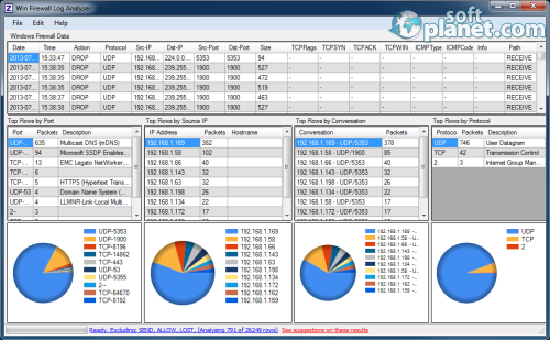 Win Firewall Log Analyser 2.0.2.0