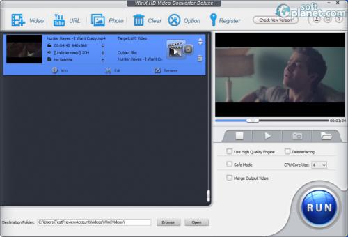 WinX HD Video Converter Deluxe 4.2.1