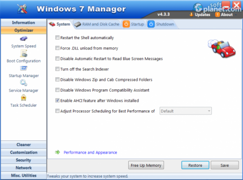 Windows 7 Manager 5.0.7