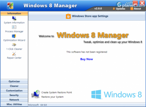 Windows 8 Manager 2.2.0