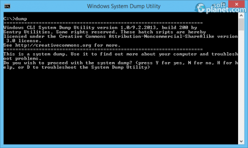Windows System Dump Utility 1.0 Build 200