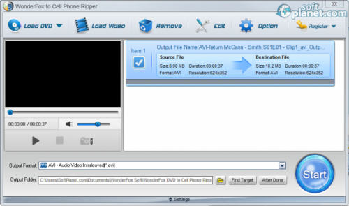 WonderFox DVD to Cell Phone Ripper 2.0