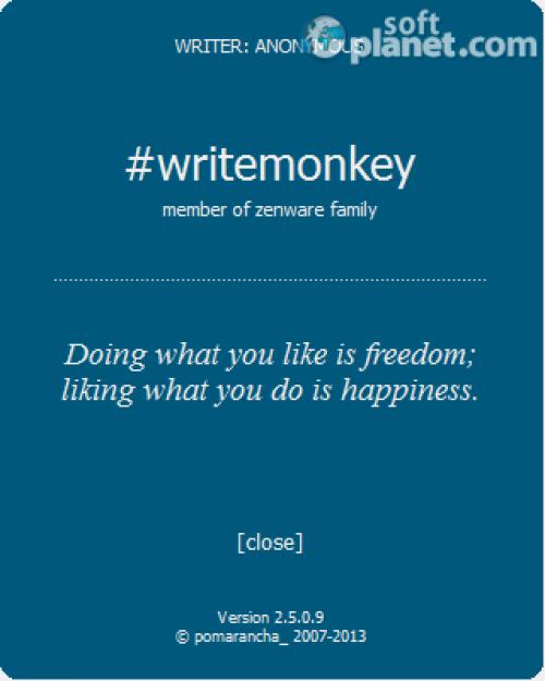 WriteMonkey 2.5.0.9