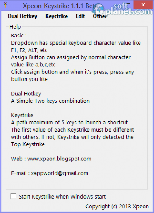 Xpeon-Keystrike 1.1.1 Beta