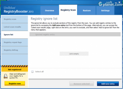 Uniblue RegistryBooster Screenshot2