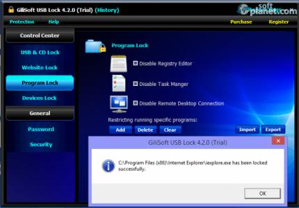 GiliSoft USB Lock Screenshot3