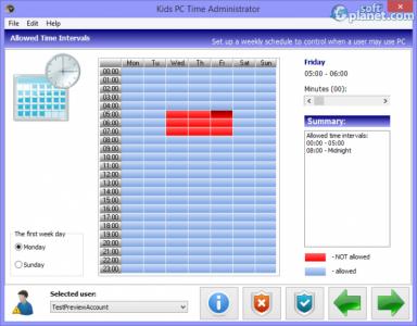Kids PC Time Administrator Screenshot4