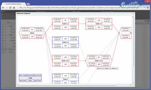 Gantt Chart Light Library Screenshot3