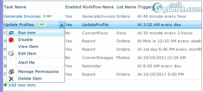 HarePoint Workflow Scheduler for SharePoint Screenshot3