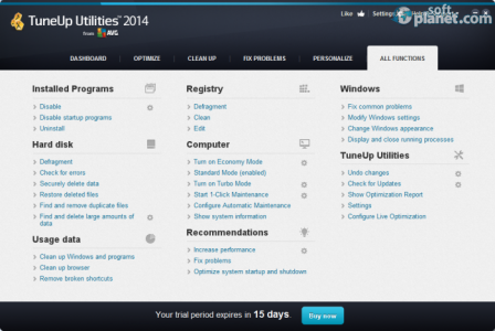 TuneUp Utilities Screenshot3