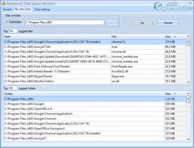 Advanced Disk Space Monitor Screenshot2