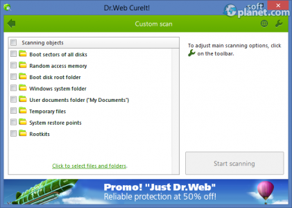 Dr.WEB CureIt! Screenshot5