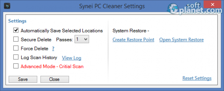 Synei PC Cleaner Screenshot3