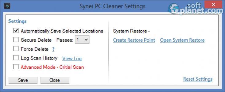 Synei PC Cleaner Screenshot3