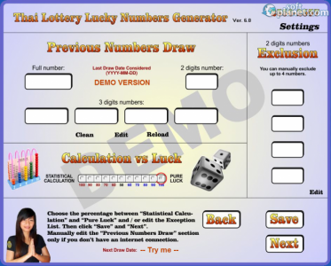 Thai Lottery Lucky Numbers Generator Screenshot2