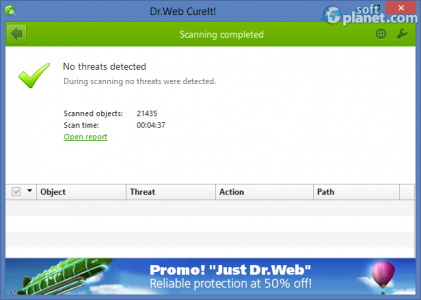Dr.WEB CureIt! Screenshot4