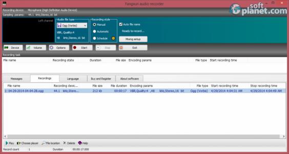 Fangxun audio recorder Screenshot3
