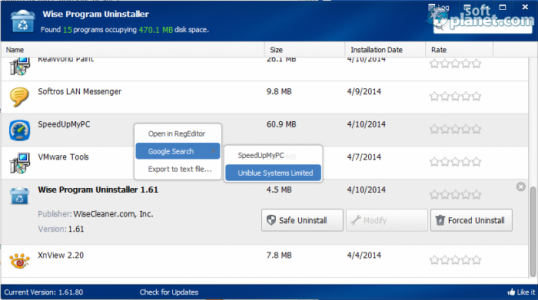 Wise Program Uninstaller Screenshot2