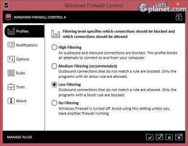Windows Firewall Control Screenshot2