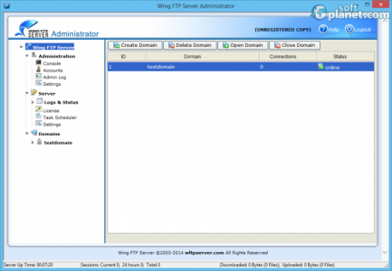Wing FTP Server Screenshot4