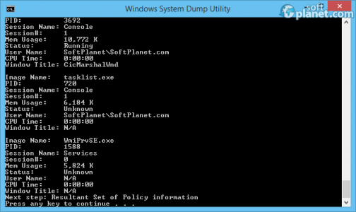 Windows System Dump Utility Screenshot3