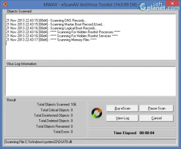 eScanAV AntiVirus Toolkit Screenshot2