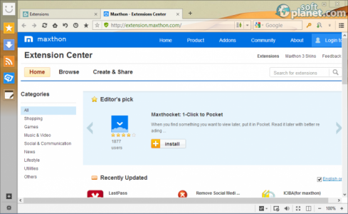 Maxthon Cloud Browser Screenshot3