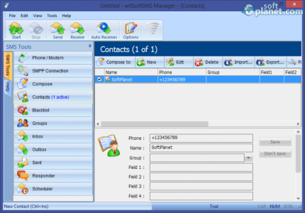 witSoft SMS Manager Screenshot4