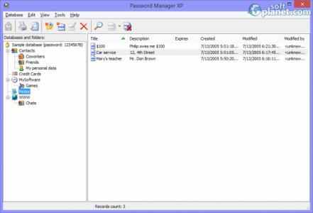 Password Manager XP Screenshot3