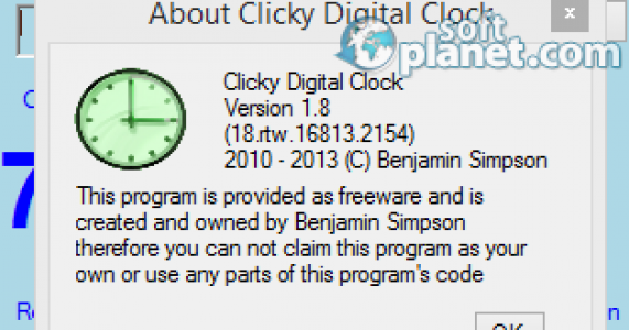 Clicky Digital Clock Screenshot2