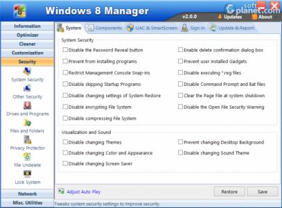 Windows 8 Manager Screenshot5