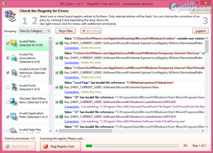 Registry First Aid Screenshot2