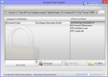 Aloaha PDF Crypter Screenshot2