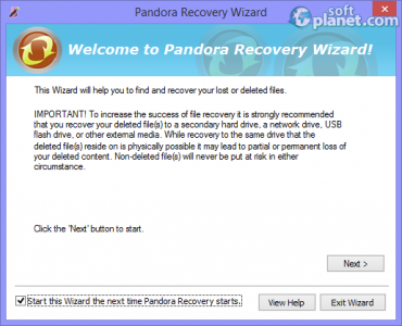 Pandora Recovery Screenshot4
