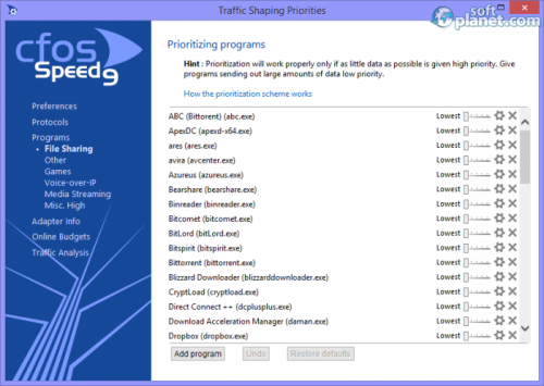 cFosSpeed 9.60 Build 2114