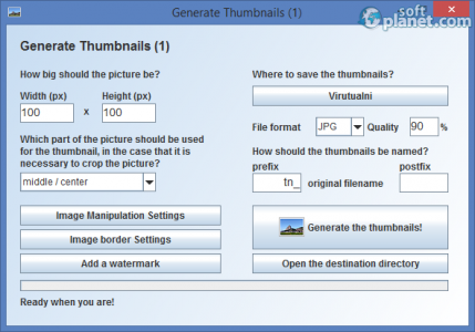 Portable gnuThumbNailer Screenshot2
