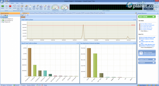 Capsa Network Analyzer Free Edition Screenshot2