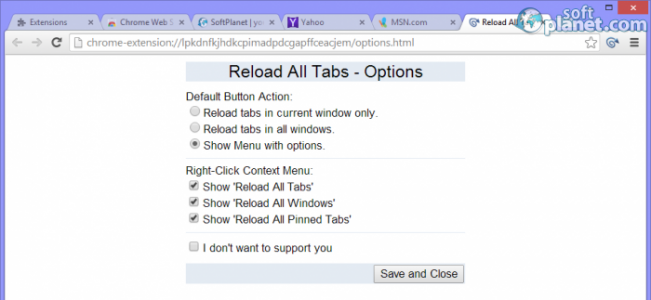 Reload All Tabs Screenshot3