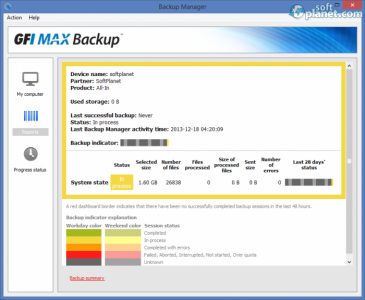 GFI MAX Backup Screenshot2
