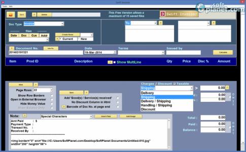 Swift Invoicer Screenshot2
