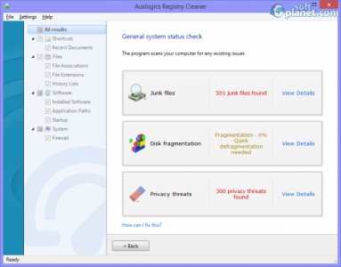 Auslogics Registry Cleaner Screenshot2
