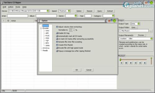 FairStars CD Ripper Screenshot3