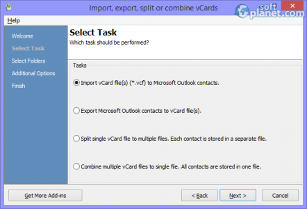 vCard ImportExport Screenshot2