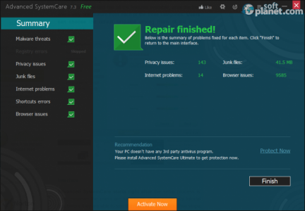 Advanced SystemCare Screenshot3