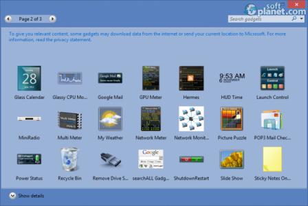 8GadgetPack for Windows 8 Screenshot2