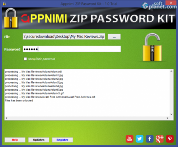 Appnimi ZIP Password Kit Screenshot2