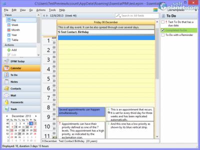 EssentialPIM Screenshot2