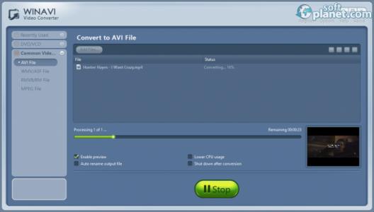 WinAVI Video Converter Screenshot3
